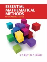 Cover image for Essential mathematical methods for the physical sciences