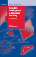 Cover image for Materials development in language teaching