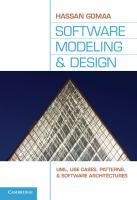 Cover image for Software modeling and design : UML, use cases, patterns, and software architectures