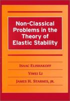 Cover image for Non-classical problems in the theory of elastic stability