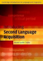 Cover image for Introducing second language acquisition