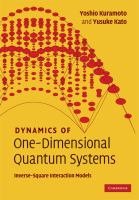 Cover image for Dynamics of one-dimensional quantum systems : inverse-square interaction models
