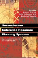 Cover image for Second-wave enterprise resource planning systems : implementing for effectiveness