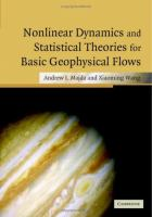 Cover image for Non-linear dynamics and statistical theories for basic geophysical flows