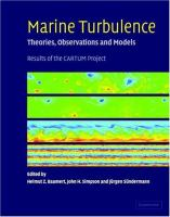 Cover image for Marine turbulence theories, observations, and models