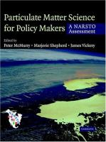 Cover image for Particulate matter science for policy makers : a NARSTO assessment