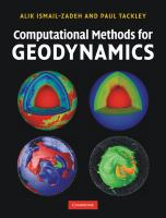 Cover image for Computational methods for geodynamics