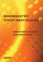 Cover image for Nonparametric system identification