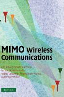 Cover image for MIMO wireless communications