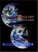 Cover image for Climate change 2007 the physical science basis :contribution of Working Group I to the Fourth Assessment Report of the Intergovernmental Panel on Climate Change