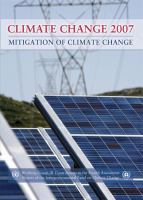 Cover image for Climate change 2007 : mitigation of climate change :contribution of Working Group III to the Fourth assessment report of the Intergovernmental Panel on Climate Change
