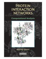 Cover image for Protein interaction networks : computational analysis
