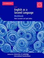 Cover image for English as a second language IGCSE workbook (cambridge international examinations)
