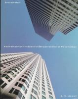 Cover image for Contemporary industrial/organizational psychology
