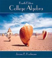 Cover image for College algebra