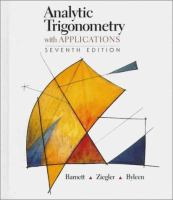 Cover image for Analytic trigonometry with applications