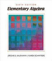 Cover image for Elementary algebra
