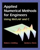 Cover image for Applied numerical methods for engineers : using MATLAB and C