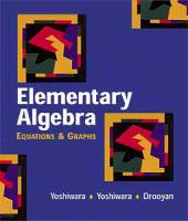Cover image for Elementary algebra : equations and graphs : student workbook
