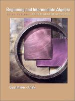 Cover image for Beginning and intermediate algebra : an integrated approach