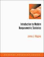 Cover image for An introduction to modern nonparametric statistics
