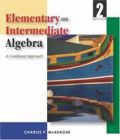 Cover image for Study guide to accompany Elementary and intermediate algebra : a combined course