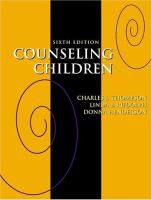 Cover image for Counseling children