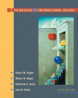 Cover image for Principles of instructional design