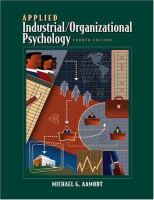 Cover image for Applied industrial/organizational psychology