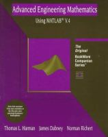 Cover image for Advanced engineering mathematics using MATLAB V.4