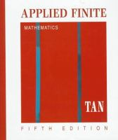 Cover image for Applied finite mathematics