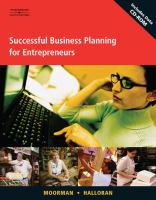 Cover image for Successful business planning for entrepreneurs