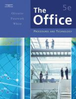 Cover image for The office : procedures and technology