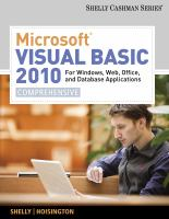 Cover image for Microsoft Visual Basic 2010 for Windows, web, office and database applications : comprehensive