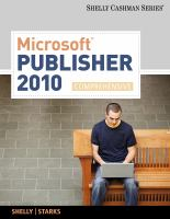 Cover image for Microsoft Publisher 2010 : comprehensive