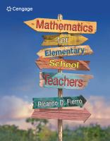 Cover image for Mathematics for elementary school teachers
