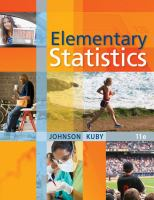 Cover image for Elementary statistics