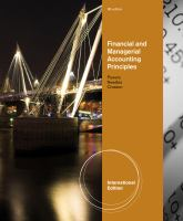 Cover image for Financial and managerial accounting principles