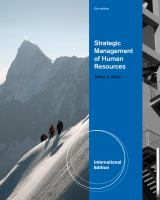 Cover image for Strategic management of human resources