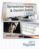 Cover image for Spreadsheet modeling and decision analysis : a practical introduction to management science