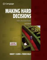 Cover image for Making hard decisions with DecisionTools
