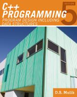 Cover image for C++ programming : program design including data structures