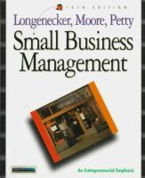 Cover image for Small business management : an entrepreneural emphasis