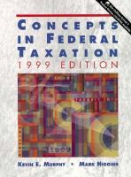 Cover image for Concepts in federal taxation : 1999 edition