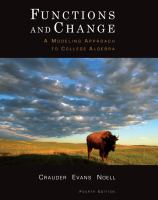Cover image for Functions and change : a modeling approach to college algebra