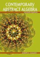 Cover image for Contemporary abstract algebra