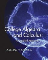 Cover image for College algebra and calculus : an applied approach