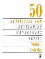 Cover image for 50 activities for developing management skills