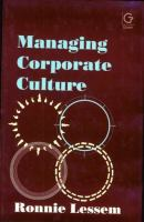 Cover image for Managing corporate culture