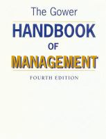 Cover image for The gower handbook of management